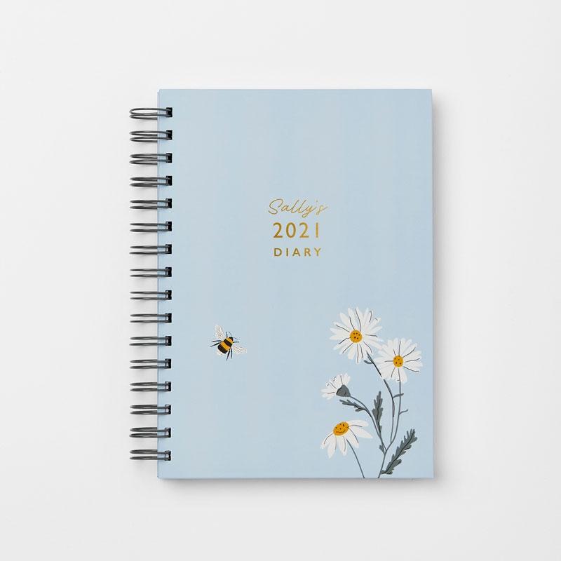 Personalised Wild Daisy 2021 Diary