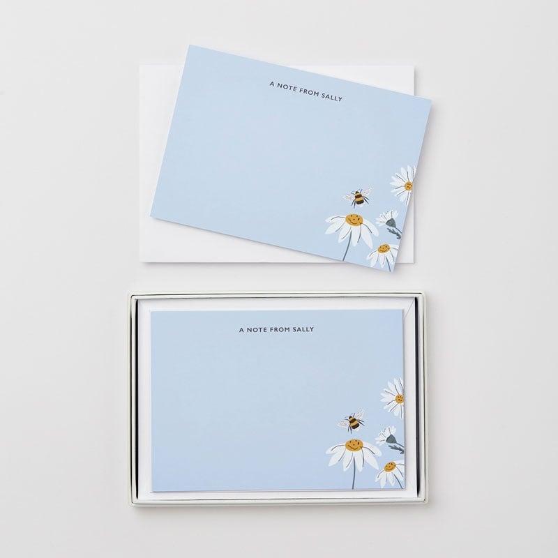Personalised Wild Daisy Notecard Gift Set