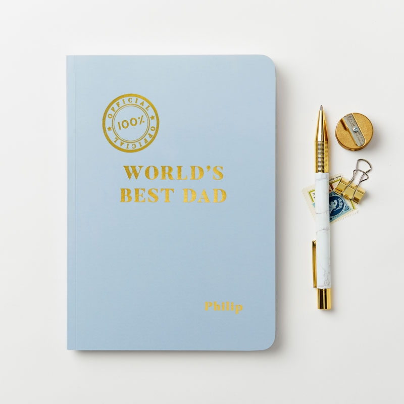 World's Best Dad Foiled Notebook