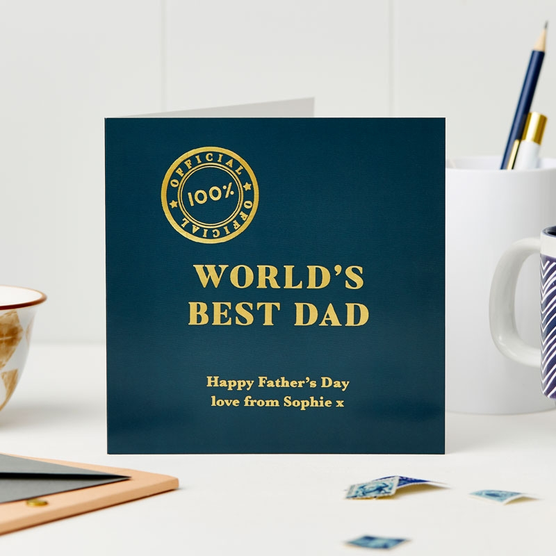 World's Best Dad Foiled Card