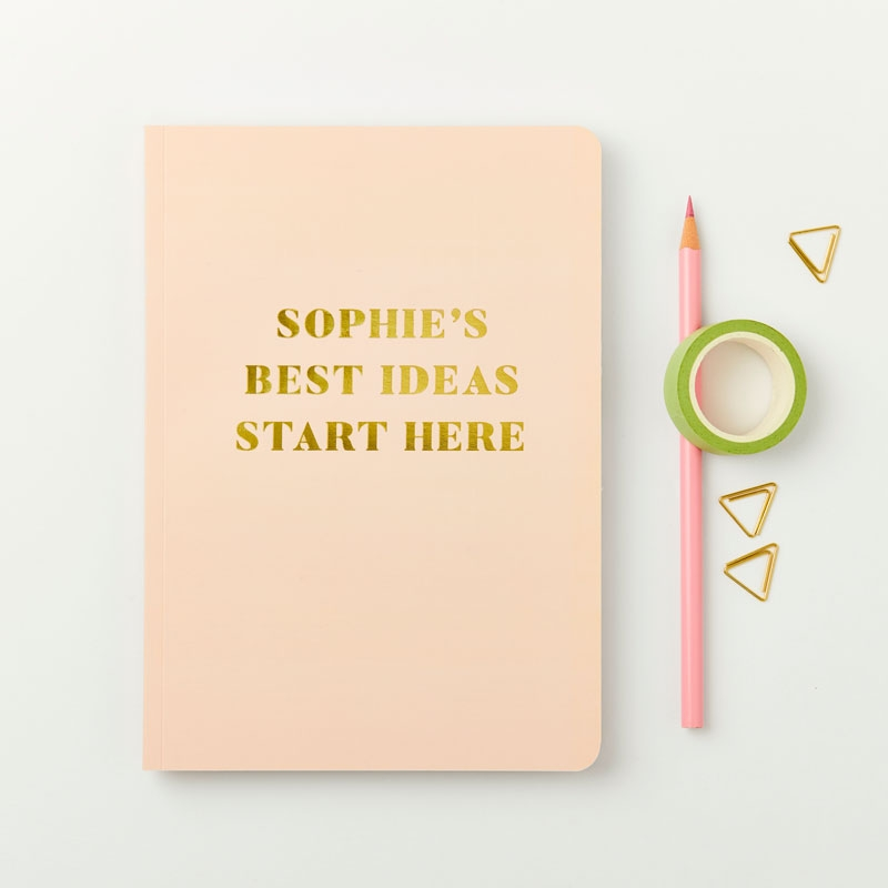 Your Best Ideas Foiled Notebook