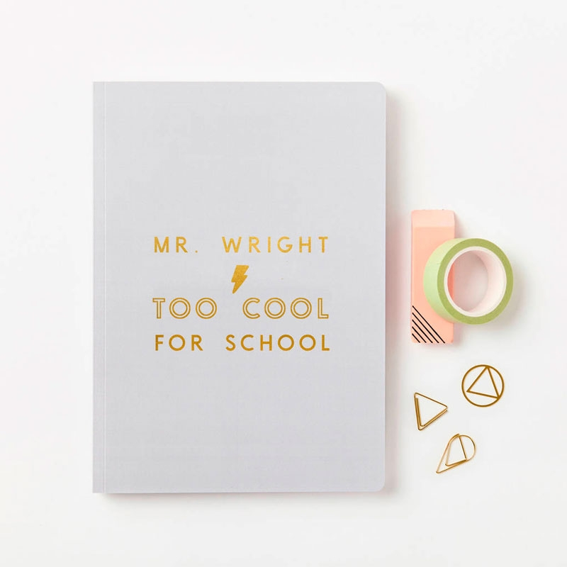 Too Cool For School Foiled Softback Notebook