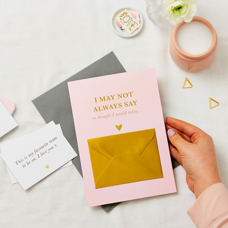 Hidden Feelings Foiled Secret Message Card