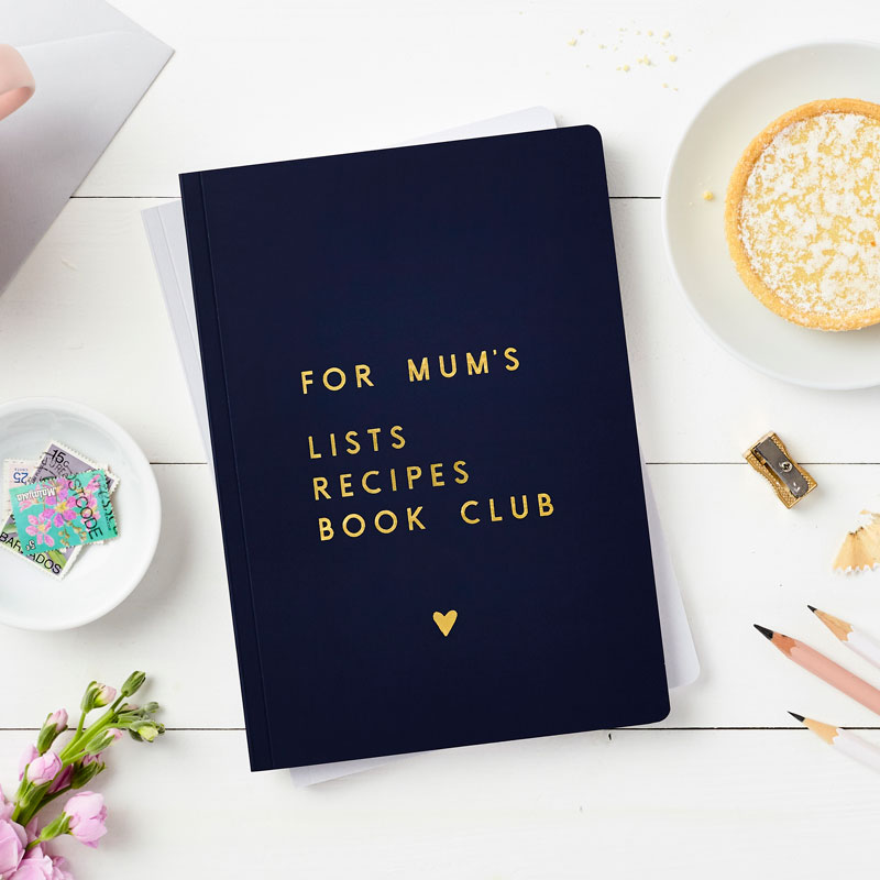 Personalised Mum's Things Foiled Notebook