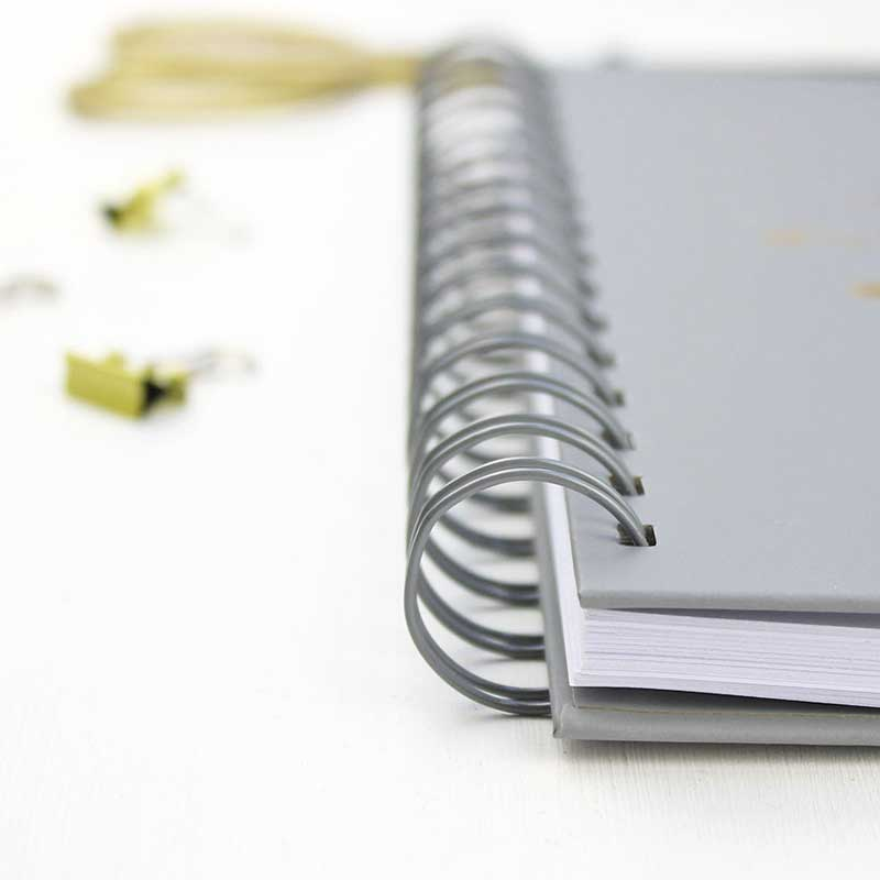 Edge of notebook
