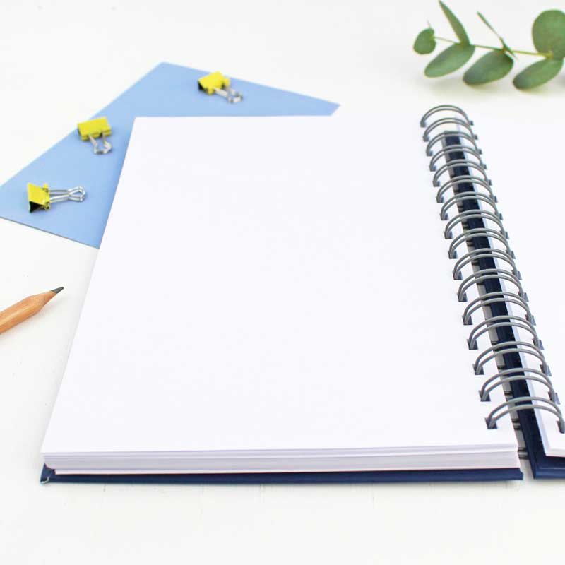 Inside a notebook