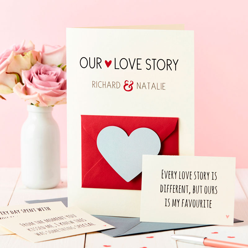 'Our Love Story' Secret Messages Card