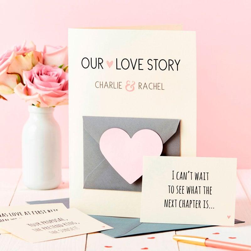 'Our Love Story' Secret Messages Card