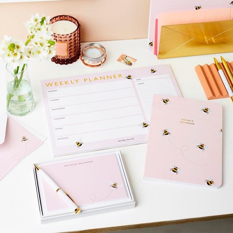 Personalised Bee Softback Notebook