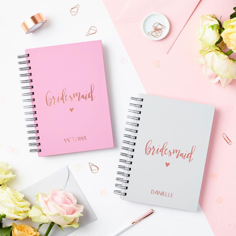 Rose Gold Bridesmaid Notebook
