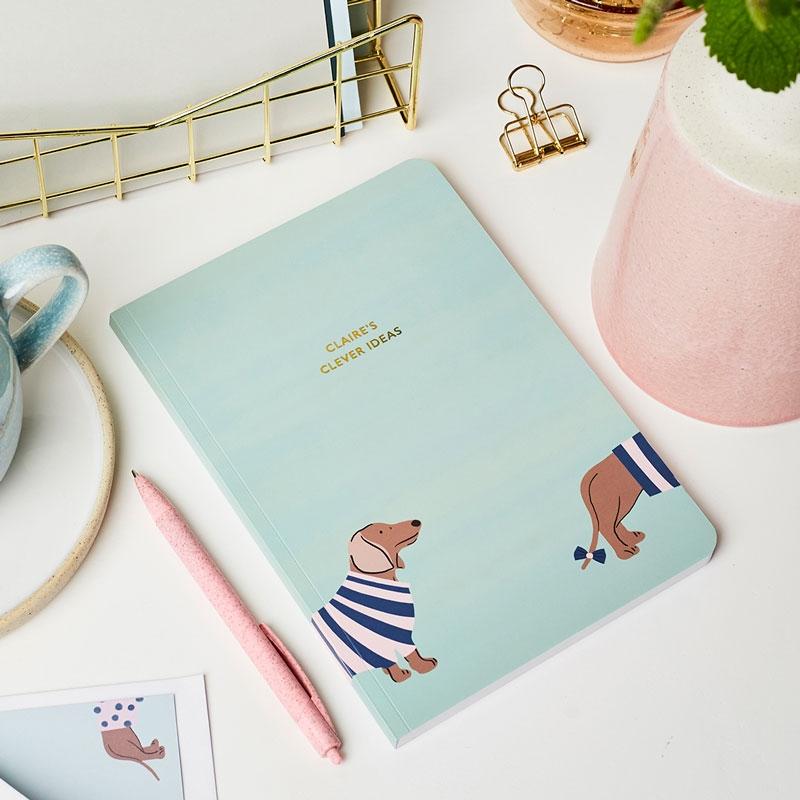 Personalised Dapper Dogs Softback Notebook