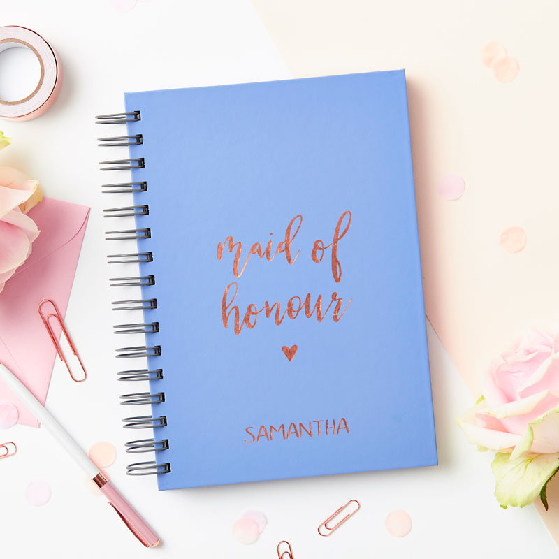 Rose Gold Maid of Honour Notebook