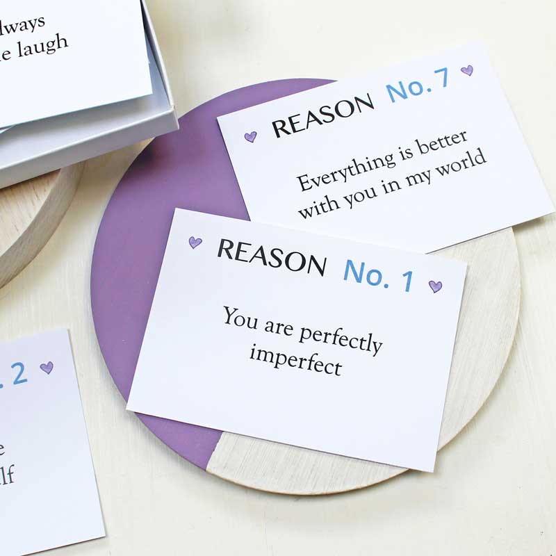 Personalised Reasons I Love You Notes
