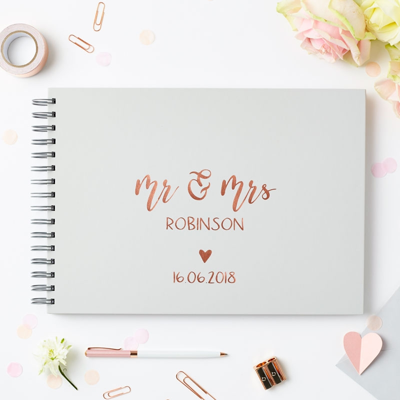 Personalised Calligraphy Wedding Guest Book