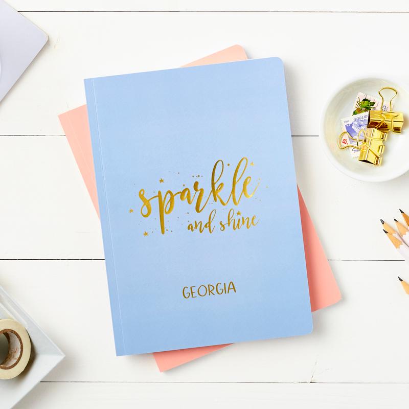 Sparkle and Shine Foiled Softback Notebook