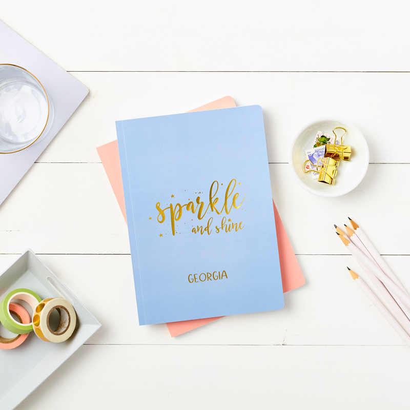 Sparkle and Shine Foiled Softback Notebook