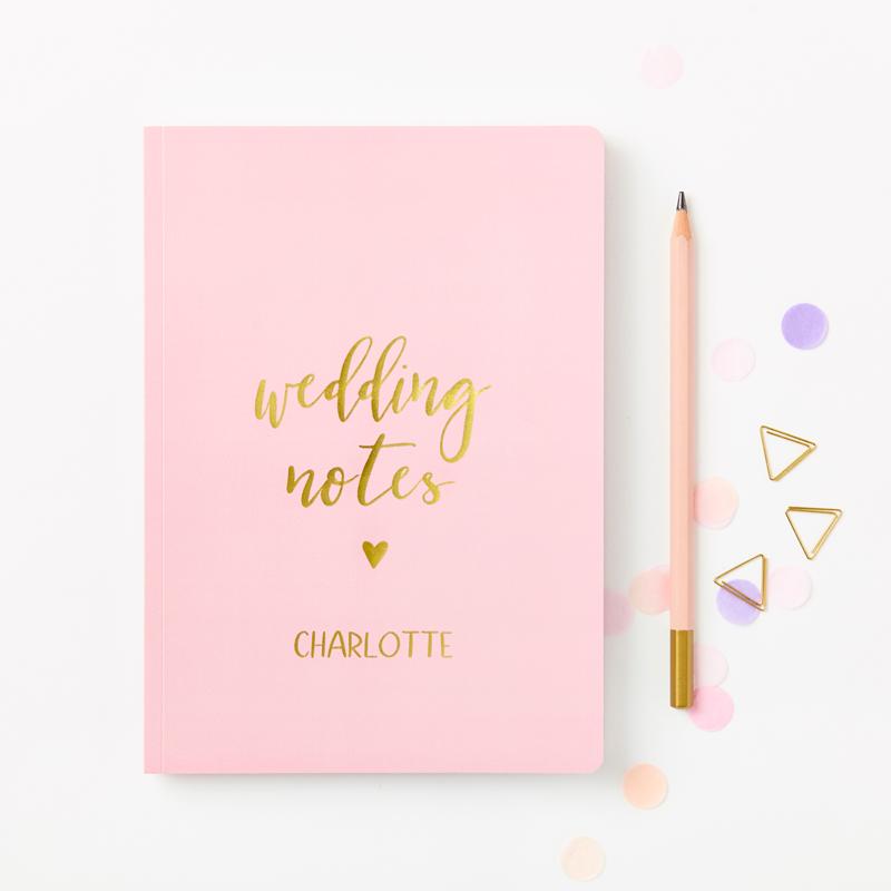 Wedding Notes Foiled Softback Notebook