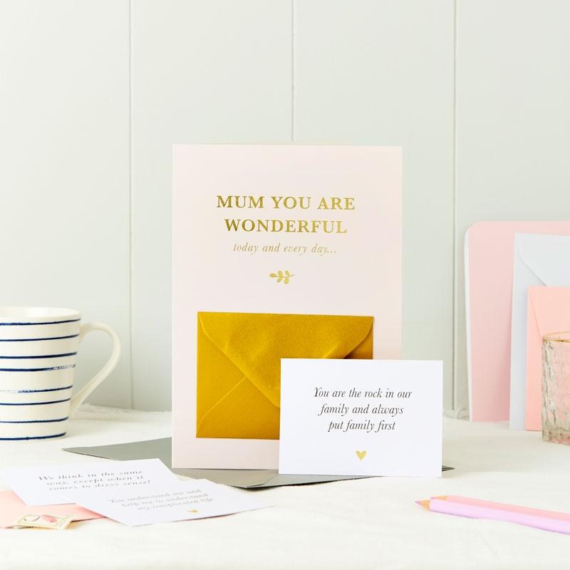 Wonderful Mum Secret Message Card