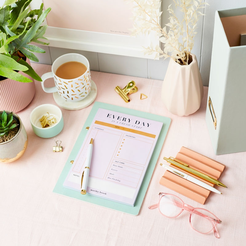 'Working From Home' Daily To Do Desk Pad