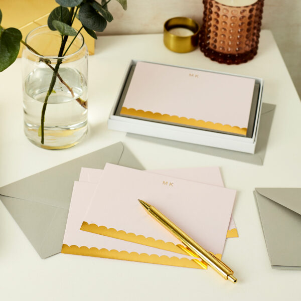 Personalised Scallop Luxury Notecards Gift Set