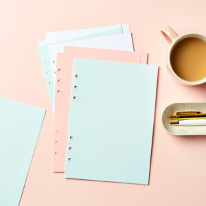 Assorted-Colour-Paper-Life Planner Refill Blue Pink White Lined Blank Dotted