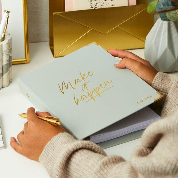 Martha Brook Personalised Make It Happen Life Planner Inspirational Productivity Personal Organiser