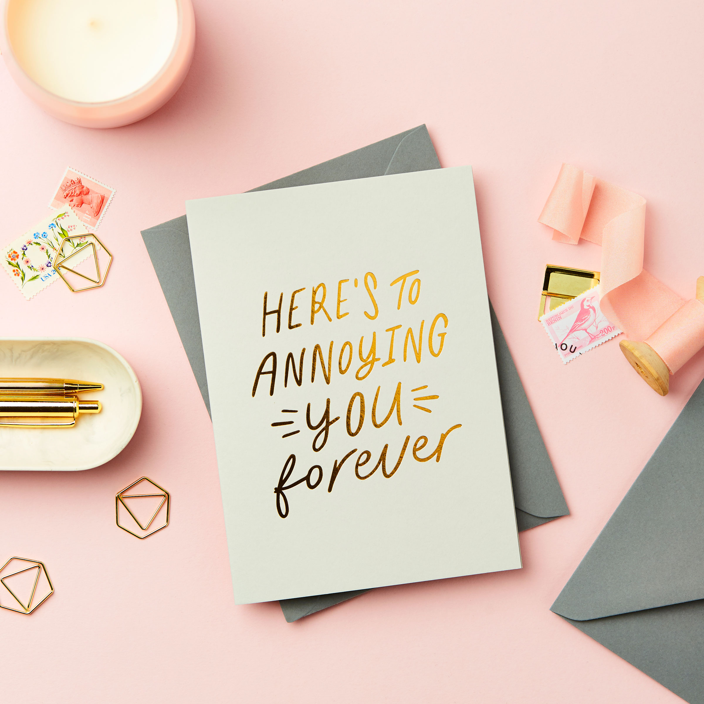 Relatable Valentines Foil Embossed Card