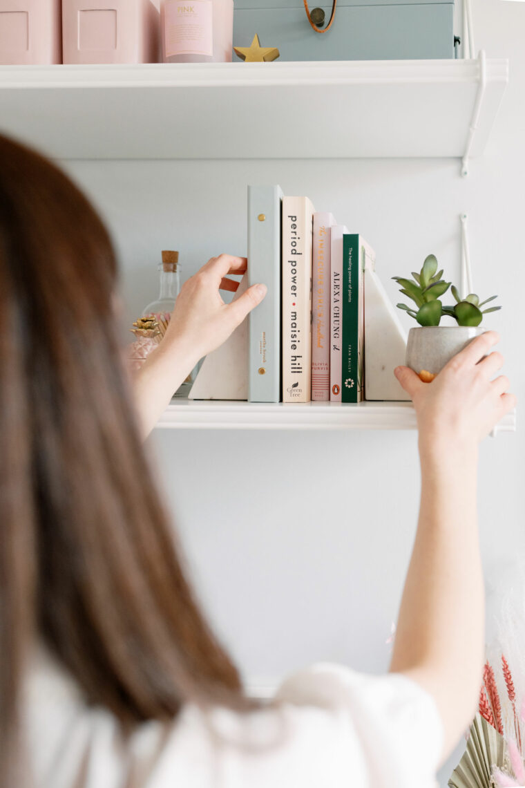 Styling some pretty shelves