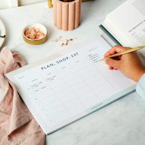 Martha Brook Essential Weekly Meal Planner Pad
