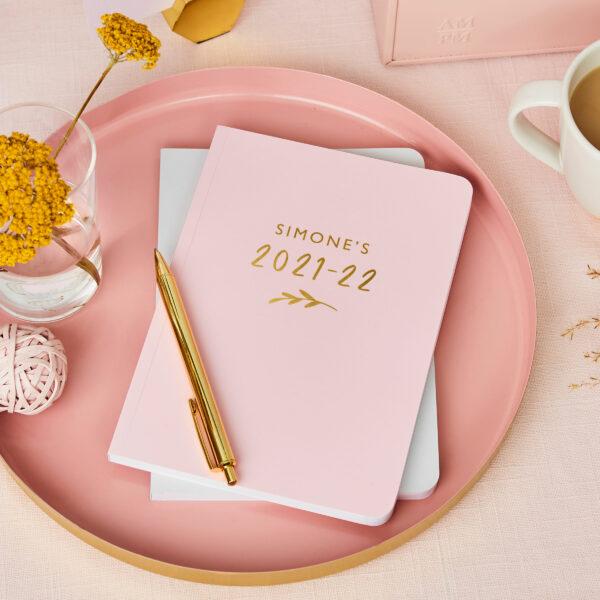 Martha-Brook-Personalised-Bloom-2021-2022-Mid-Year-Academic-Diary-Desk-Goals-Pink-Mustard-Pretty