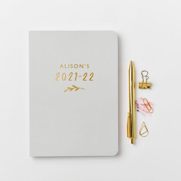 Martha-Brook-Personalised-Bloom-2021-2022-Mid-Year-Academic-Diary-Simple-Light-Grey