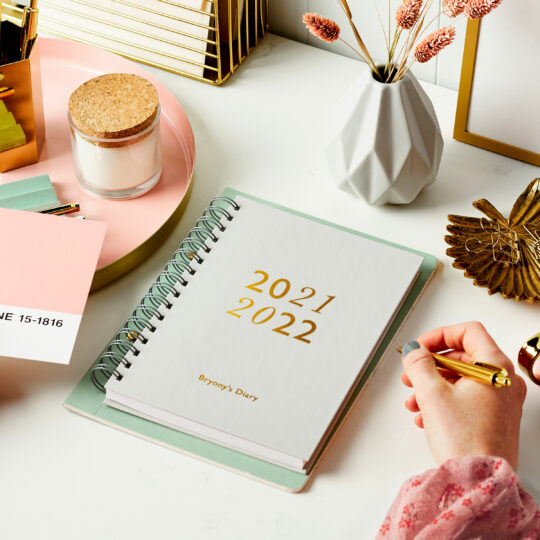 Martha-Brook-Personalised-Mid-Year-Diaries-Academic-2021-2022-School-University-Beautiful-Custom-Desk