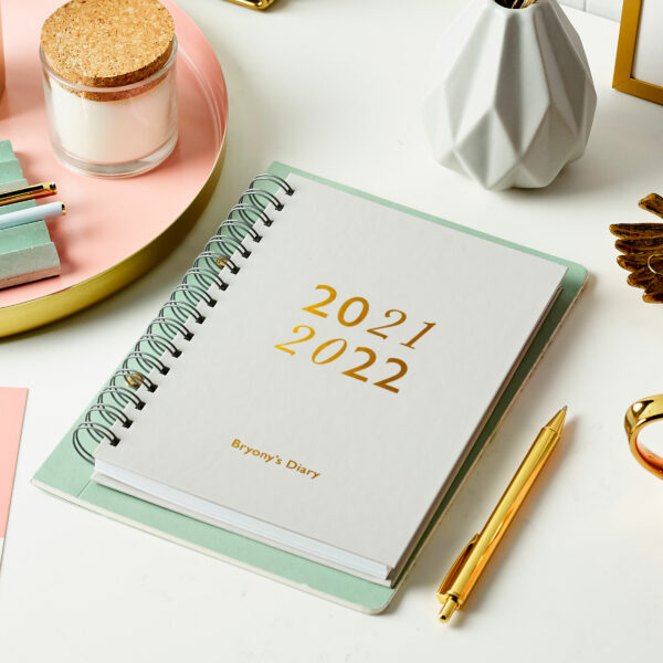 Martha-Brook-Personalised-Reset-2021-2022-Mid-Year-Academic-Diary-Light-Grey-Gold-Foiling