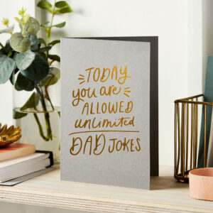 Martha Brook Dad Jokes Foil Embossed Father's Day Card