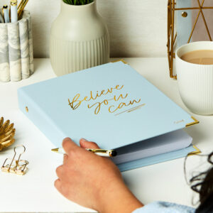 Martha Brook Pastel Blue Personalised Believe You Can Life Planner Mid Year 2021