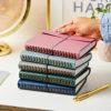 Martha Brook Personalised Leather Effect Embossed Notebook