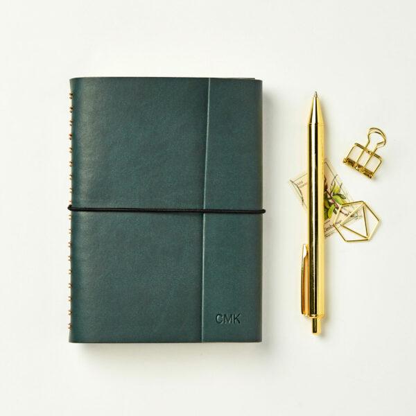 Martha-Brook-Personalised-Leather-Effect-Embossed-Notebook