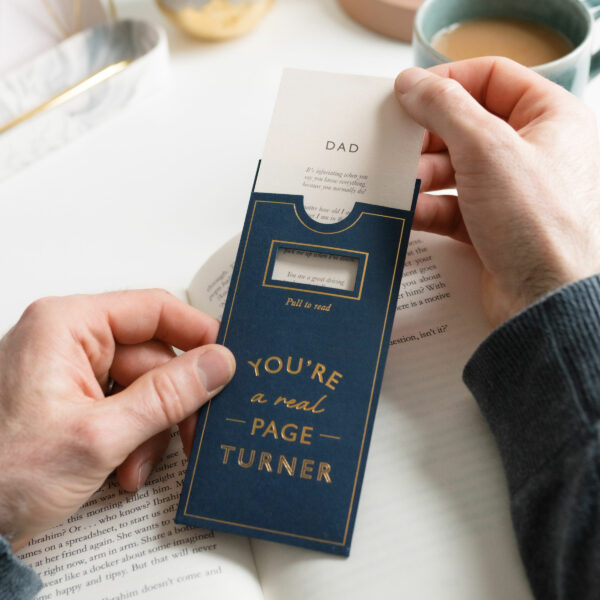 Martha Brook Personalised Page Turner Hidden Messages Bookmark