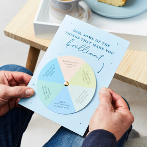 Martha Brook Personalised Reasons Dad Is Amazing Spinner Card