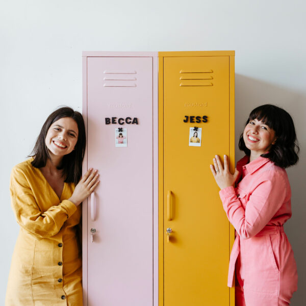 Behind the lockers: Becca + Jess from Mustard