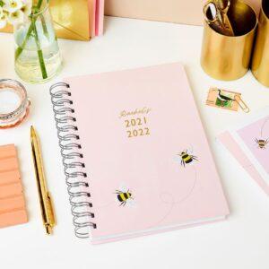 Martha Brook Personalised Bee Diary 2021 2022 Mid Year