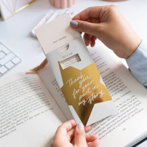 Martha Brook Personalised Teacher Gift Hidden Messages Bookmark Thank You Teacher Gifts