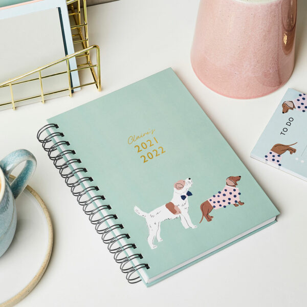 Martha Brook Personalised 2021 2022 Mid Year Dapper Dogs Diary