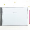 Optional inside message in a personalised wedding guest book