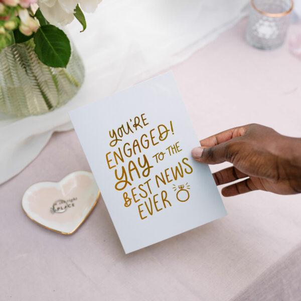 Martha Brook Best News Ever Foil Embossed Engagement Card