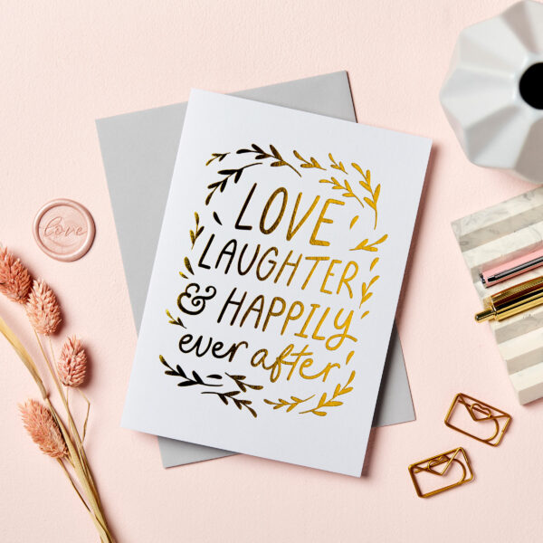 Martha Brook Happily Ever After Foil Embossed Wedding Card