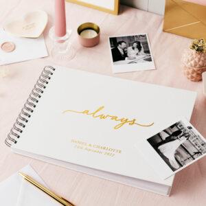 Personalised Always Wedding Photo Album