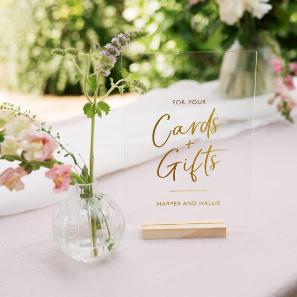 Personalised Cards and Gifts Wedding Sign