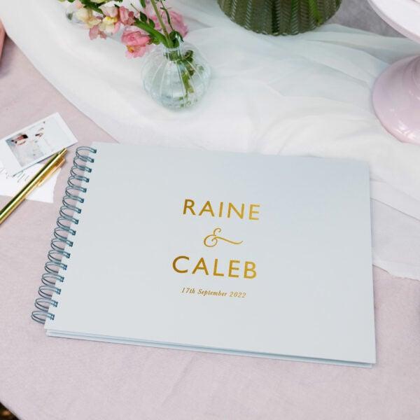 Martha Brook Personalised Modern Wedding Guest Book