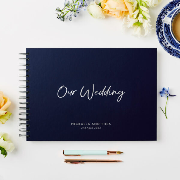 Martha Brook Personalised Our Wedding Guest Book